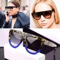 Wholesale Sunglasses Luxury Original Box - 2016 Hot Women Sunglasses Brands Designer With Original Box Acetate Frame Big Lens Vintage Style Luxury Brand