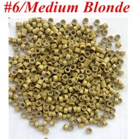 1000pcs / Bag 5.0mmx3.0mmx3.0mm Micro alumínio com anéis de silicone Links / Beads For Hair Extensions tools 8 cores