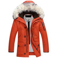 Wholesale Napapijri Clothing - Men Duck Down Coat Winter Jacket Parkas Mans Brand Clothing Rabbit Fur Parka Jackets Mens Napapijri Roupas Feminina Down Jackets