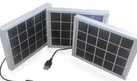 Wholesale solar panels charge laptop resale online - solar system with V W solar panel USB port can be charged v mobile device camera PSP in the raining days