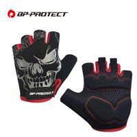 Wholesale Women Gel Cycling Gloves - Breathable Cycling Half Finger Gloves Shockproof GEL Pad MTB Road Bicycle Bike Short Gloves Men Women Motorcycle Riding Sports