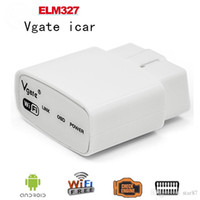 100 PC / Los A + Qualität 2016 ELM327 wifi Ursprüngliches Vgate iCar elm327 WIFI OBDII OBD2 Diagnose für iPhone IOS Android PC iPad DHL FreeShipping