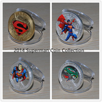 Wholesale 4 Iconic Superman DC Comic Book Covers Dollars Canada oz Silver Gold Colorized Superman Coins Set