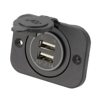 12V 1A 2.1A carro Motocicleta Dual USB Socket Splitter Car Charger Power Adapter LED Waterproof Para iPhone MP3 MP4 venda de telefone móvel quente
