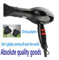 Wholesale General Electric Power - Wholesale-2015 New Professional 1600w Black Hair Dryer High Power Blow Dryer Negative Ion Nairdryer Hot and Cold Secador General global vo