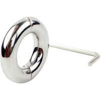 Wholesale Ejaculation Penis - Wholesale- Stainless Steel Ball Stretcher Penis Enhancer Restraint Ring Delay Ejaculation Gags & Practical Jokes