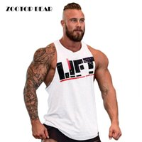 All'ingrosso-nuovo arrivo divertente Print uomo T-shirt Gym Muscle Sport Top girocollo Crossfit fitness Bodybuilding girocollo T ZOOTOP BEAR