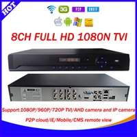 Wholesale Dvr Ip Channel - New Technology 8CH 1080N TVI AHD DVR NVR HVR 5 in 1 H.264 CCTV Video Recorder Camera Onvif Network 8 Channel IP NVR 1080P P2P cloud xmeye