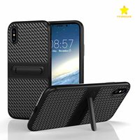 Wholesale Wholesalers Cellphone Case - For iPhone 8 Plus iPhone X Samsung S8 Plus 2in1 Anti-Fall Protection Shockproof Cellphone Support Armor Hard TPU with Retail