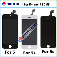 Wholesale Best Digitizer - Best AAA quality for iPhone 5 5C 5S LCD touch screen digitizer Full set Assembly White and black color with fast shipping