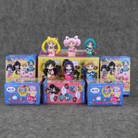 ingrosso giocattoli plutone-6 pz / lotto Sailor moon Pendant Saturno Urano Pluto Sailor Neptune Sailor Chibi figure in PVC luna Figure Toy