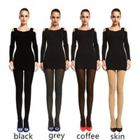 Wholesale Bonas Pantyhose - Wholesale-200D BONAS Collant Femme Autumn Warm Velvet Elasticty Stockings Fashion Tights Female Seamless Soft Pantyhose Plus Women Hosiery