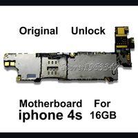 téléphone 4s 16gb achat en gros de-Carte mère 16GB d'origine pour téléphone gros-déverrouillé pour 4S, version mère 100% EU avec la carte mère avec puces électroniques