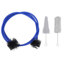 Wholesale Trumpet Clean - Set of 3 Trumpet Cleaning Kit Trumpet Mouthpiece Brush Valve Brush Flexible Brush