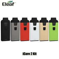 Wholesale Red Files - 100% Original Eleaf iCare 2 Starter Kit 650mAh 15W Battery 2ml Top Filing Atomizer IC 1.3ohm Coils Head