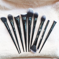 Wholesale 25 Hair - KVDbeauty Lock-it Setting Edge Powder Foundation Concealer Contour Eye #10 #20 #25 #40 #2 #4 #5 -Quality Brushes- Beauty Makeup Blender