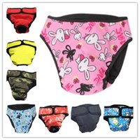 Wholesale Dog Menstrual Pants - Muticolor Pet Dog Diaper Clothes Big Dog Physiological Pants Safe Pants Menstrual Pants Anti Pee Anti Menstruation CYF33