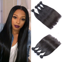 Wholesale cheap hair products free shipping - Cheap G-EASY remy human hair products Malaysian Hair weave Unprocessed Virgin straight hair bundles free shipping