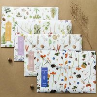 "Wholesale Cute Lovely Bags - ""Nature Whisper"" Pack of 4 Cute Plastic Document File Folder Bag Organizer Lovely Beautiful Cover Study School Bag Case Gift"