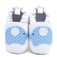Wholesale White Cotton Wholesale Thread - 2016 New Children Shoes White Elephant Cartoon Breathable Cotton Thread Fabric Walking Shoes Slip-on Toddler Soft Sole Affixed to foot