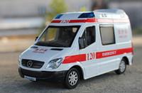 araba ambulansı toptan satış-Alaşım Araba Modeli, Çocuk Oyuncakları, Ambulans, Et Vagonu, Sesli Yüksek Simülasyon, Farlar, Çocuk Hediyeler, Toplama, Ev Dekorasyonu