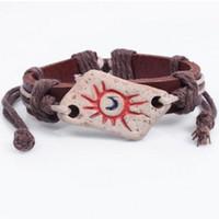 Wholesale Pottery Bracelets - Pottery Sun Totem BRACELET Amazing featured cheap Bangle Ethnic fashion new style wrist jewelry ornaments charm Bangles Bracelets ON SALE!