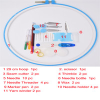 Wholesale Wholesale China Zakka - china lastest products zakka fashion colored plastic frame with nessary tools as tool set for DIY home patwork for sale 27cm round