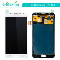 Wholesale pc display panel - 10 PCS LCD Assembly For Samsung J7 j700 Touch Screen Digitizer Display Replacement AAA+++ Quality with Free DHL Shipping