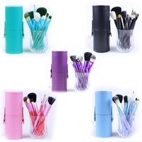 Wholesale color goat hair makeup brushes resale online - 2017 new brand M Makeup Brush pieces Professional Makeup Brush set Kit with Free Ship Free Gift High quality five color sell