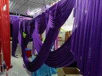 Wholesale Swag Beads - 3m*6m wedding backdrop swag Party Curtain Celebration Stage Performance Background Drape With Beads Sequins Edge wd609