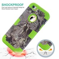 Wholesale Galaxy Realtree - Hybrid Grass Branch Tree Case For Ipod Touch 5 6 Samsung Galaxy Note5 Hard Plastic PC Soft 3 in 1 Camo Realtree Shockproof Ballistic Cover