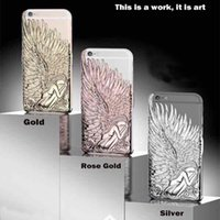 Wholesale Iphone Wings Cases Fashion Wholesale - Newest Fashion Luxury The wings of an angel Back Cover For iphone 6 4.7 Phone Cases For Apple iphone 6 Plus