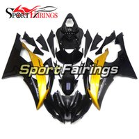 Wholesale Yzf R6 Fairings Black Gold - Complete Fairing Kit For Yamaha YZF R6 08-15 YZF-R6 2008 2009 2010 2012 2013 2014 2015 ABS Motorcycle Bodywork Body Kit Gloss Black Gold