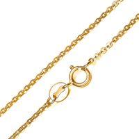 collar de eslabones de cadena de oro blanco al por mayor-Joyería de moda cadena de oro amarillo 18K chapado en oro collar de oro blanco cadena Rolo para mujeres cadena de enlace 1 mm 16 18 pulgadas