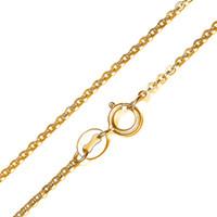correntes de placas de ouro branco de 18k venda por atacado-Moda Jóias Corrente De Ouro Amarelo 18 K Banhado A Ouro Colar de Corrente de Rolo de Ouro Branco para As Mulheres Cadeia de Ligação 1mm 16 18 polegada