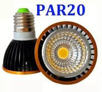 Wholesale Epistar Chip Led Cob - Dimmable par20 LED E27 E16 GU10 Bulbs Light cob chips 12W Led Lights Lamps AC 110-240V CE LLFA