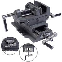 "Wholesale Drill Press Drilling - New 4"" Cross Drill Press Vise X-Y Clamp Machine Slide Metal Milling 2 Way HD"