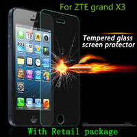 Wholesale Screen Protector For Zte Grand - For ZTE grand X3 z959 Tempered Glass Screen Protector Explosion proof blade x9 blade X5 grand X max plus Z987 ZMAX 2 Z958