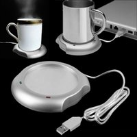 Wholesale Mug Heating Pad - Wholesale-2016 new arrival sale stock USB Insulation Coaster Heater Heat Insulation electric multifunction Coffee Cup Mug Mat Pad