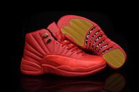 zapatillas de baloncesto de china al por mayor-Nuevo 12 XII zapatos de baloncesto rojo 12s para hombre zapatillas de deporte de la venta caliente de diseño barato Deportes zapatillas de tenis en línea de China