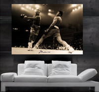 Wholesale Giant Art Prints - Muhammad Ali vs foreman Poster print wall art 8 parts giant huge Poster print art NO24