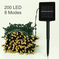 Wholesale Christmas Work Suits - Fairy Led Christmas Light Solar Powered 22m 200leds 8 Working Mode Waterproof Suit for indoor Outdoor Garden Use