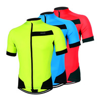 Wholesale Mtb Cycling Wear - Arsuxeo Bicycle DH Downhill Sport Cycling Jersey Men MTB Bike Running Quick dry Tshirt Clothing Women Fintess Jerseys Wear