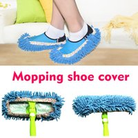 Multifuncionais Mop Shoes Cover Dusting Floor Cleaner Limpeza Chinelos