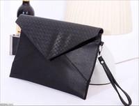 Wholesale Wholesale Korean Packaging - 2016 Korean Version Of The Black Cool Envelope Bag PU Leather Handbags Leisure Package Exclusive Special Wholesale Deals