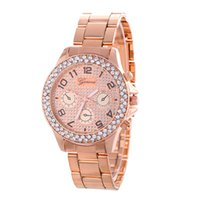 Wholesale Wholesale Diamond Watches Men - Hot unisex men women geneva metal alloy watch wholesale fashion luxury ladies dress steel diamond quartz Analog watces