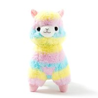 Wholesale Soft Toy Sheep - 17 cm Rainbow Alpaca Plush Sheep Toy Japanese Soft Plush Alpacasso Baby 100% Plush Stuffed Animals Alpaca Gifts hot sale