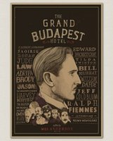 """Wholesale Antique Chalkboards - Multi-style Vintage Poster Bar Cafe Home Decoration Detailed Antique Poster Wall Chart Retro Matte Kraft Paper """"The Grand Budapest Hotel"""""""