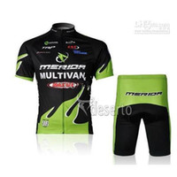 Wholesale Merida Hot - 2017 HOT SALE Merida Bike Bicycle Wear Outdoor Team Jersey Cycling Topand Tight Shorts
