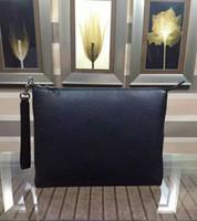 Wholesale Envelope Clutch Men - new brand genuine leather Clutch men famous Designer envelope bags Businessman hand Bag 651